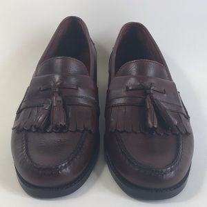 Bass Men's Shoes Lubock Loafers Sz 10D Brown Leath